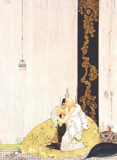 Vintage Matted Kay Nielsen Art Deco Nouveau Print Picture