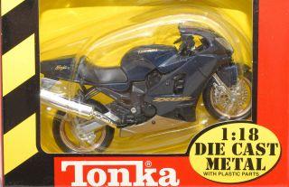 Kawasaki Ninja zx12r Blue Maisto 1 18 Motorcycle Sport Bike Die Cast