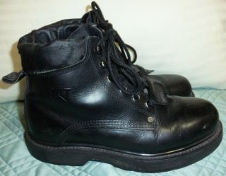 Caterpillar Black Smooth Leather Boots 9 M Oil Resistant