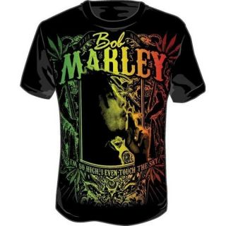 New Bob Marley Kaya Now Jumbo Mens T Shirt Black