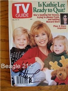 Kathie Lee Gifford Signed TV Guide 12 1995 Autographed