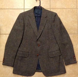 Tweed Blazer Jacket 38L 40L Dunbar Keith Scottish Wool FANTASTIC