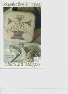 Keepsake Box Pinkeep Cross Stitch Chart from Blackbird Designs