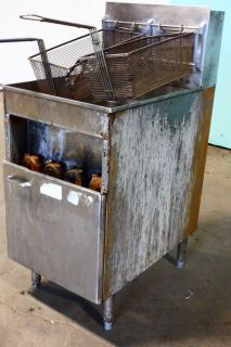 Keating  Stainless Steel Heavy Duty Commercial Natural Gas Fryer