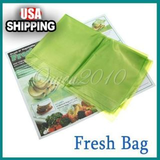 Fruit and Produce Green Bags Reusable Life Extender Keep Food Fresh