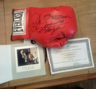 George Foreman Joe Frazier and Ken Norton Signed Boxing Glove