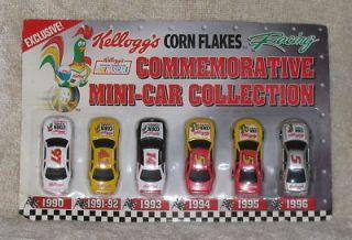 NASCAR Kelloggs Corn Flakes Diecast Commemorative Mini Car Collection