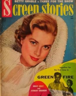 Screen Stories 1955 Movie Mag Grace Kelly E146