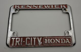 State Motorcycle License Plate Frame Kennewick Tri City Honda