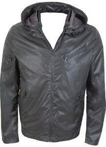New Kenneth Cole New York Mens Summer Jacket hoodie Windbreaker Black