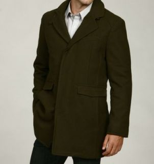 Kenneth Cole Mens Walker Wool Blend Coat