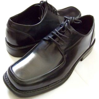New Mens Kenneth Cole Unlisted Black Leather Oxfords Dress Shoes Sz 8