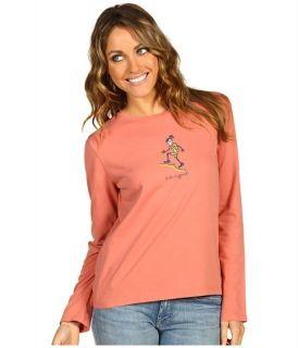Life Is Good Jakie Hiking Crusher T Shirt LS Womens L