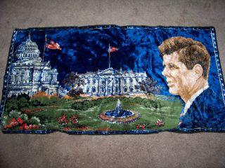 John F Kennedy Wall Tapestry Rug JFK President Hanging Carpet