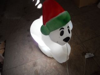 Polar Bear OUTDOOR Lighted Blow Mold Christmas Yard Decoration 30