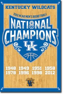 Kentucky Wildcats National Champions 2012 NCAA Poster