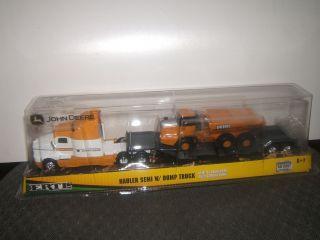 64 Ertl John Deere Kenworth Semi Truck w Dump Truck Load