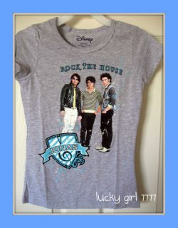 Disney Joe Kevin Nick Jonas Brothers Girls Shirt 7 8 Free Ship NEW LOW
