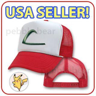 NEW POKEMON ASH KETCHUM TRUCKER COSTUME CAP COSPLAY HAT   USA SELLER