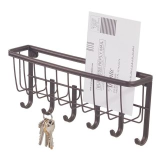 Key letter mail holder organizer wall mount magnet rack white - Wall mount mail and key rack ...