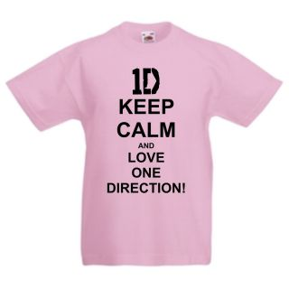 One Direction Cute Funny Kids Fan T Shirt All Childrens Sizes