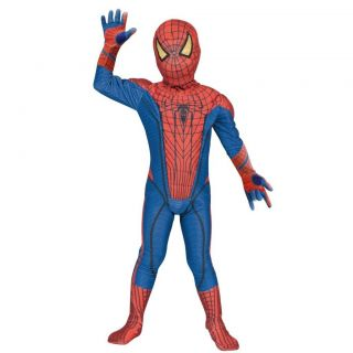 Spider Man Costume Kids Rubies Spiderman Halloween L F s EMS