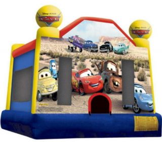 New Big Disney Cars Inflatable Kids Bounce House Jumper Bouncer 14 4