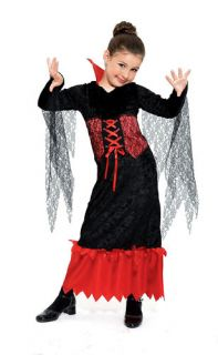 Vampire Queen Dress Girls Kids Halloween Costume L