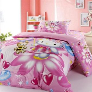 Pink Hello Kitty Kids Bedding Sets for Girls Twin and Full Size in