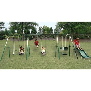 Kids Adventure Play 8 Leg Outdoor Metal Swing Set Steel Swingset Play