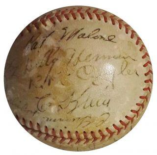 Team 24 Signed Baseball Kiki Cuyler Chuck Klein Hartnett JSA