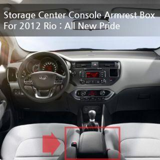 Center Console Armrest Box Black for 12 Kia Rio All New Pride