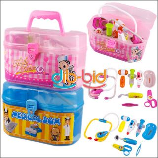 Piece Simulation Medical Kit Kids Doctor Role Play Set Carry Case