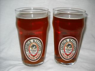 Killians Irish Red Two 2 16oz Glasses