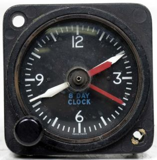 Cessna 8 Day Clock C664506 0102 2 1 4""