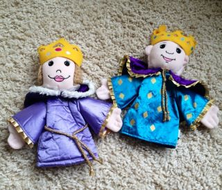 Aurora Very Nice King and Queen Puppet Lot Hand Puppets