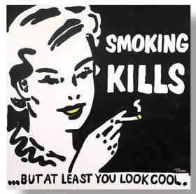 SMOKING KILLS LITHOGRAPH PRINT SIGNED LIMITED EDITION LOWBROW TODD