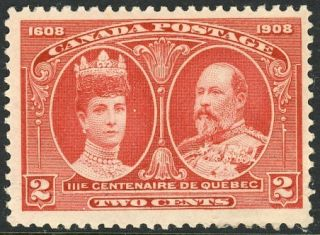 Canada 1908 King Edward VII and Queen Alexandra 2c Stamp Mint 98