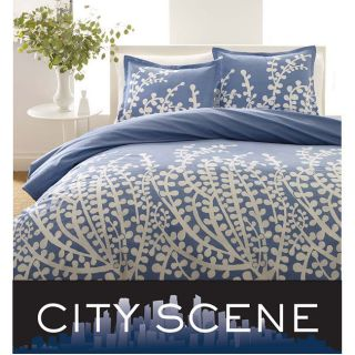 New Home Bedroom Decor Bedding King City Scene Branches French Blue