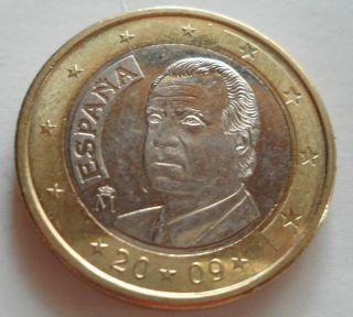 Spain 2009 1 Euro Coin King Juan Carlos