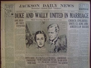 290626WR Former King Edward VIII Wedding to Wallis Simpson June 3 1937