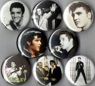 Elvis Presley 8 Pins Buttons Badges King Nixon New