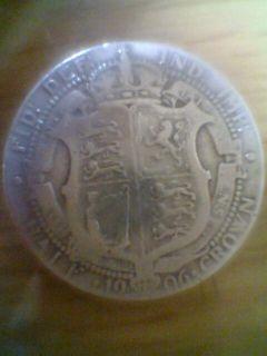 King Edward VII British Silver Coin Half Crown 1906