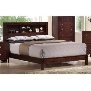 48H Alden Dark Cherry Finish King Size Bed Frame