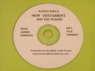 King James Version Holy Bible Audio Bible New Testament and the Psalms