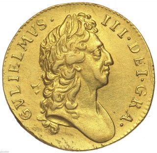 Great Britain King William III 1695 Gold Guinea