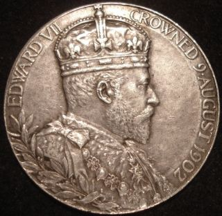 King Edward VII Crowned 9 August 1902 Queen Alexandra Silver English