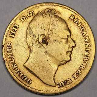 1832 King William IV IIII Great Britain Gold Full Sovereign Coin