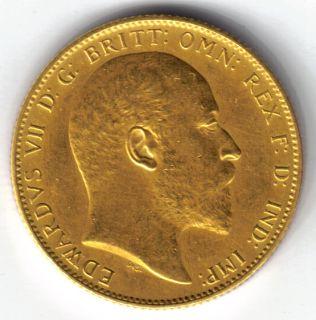 Mint Sovereign Matte Proof 1902 King Edward VII Gold Coin