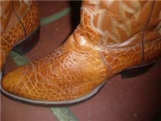 Vintage Alligator Crocodile Boots Justin Style 9302 Size 8 Mens